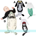 Baby Sleeping Bag Baby Sleeping Mermaid Cotton Pajamas Newborn Anti-kick Quilt Baby Bedding