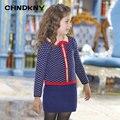 X-Longa Camisola Menina Roupas de Inverno 2016 Camisola Nova Marca para Crianças Botão blusas para as meninas
