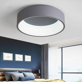 라운드 led 천장 조명 간단한 현대 패션 아크릴 거실 침실 연구 식당 장식 조명기구 mx5241610