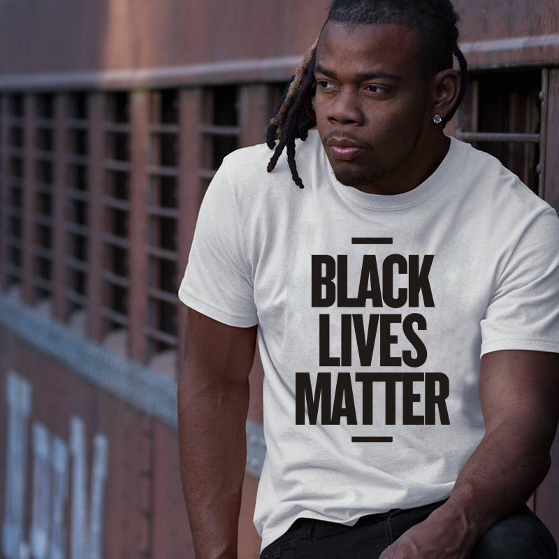 HTB14M05OBLoK1RjSZFuq6xn0XXat - Showtly Black Lives Matter Men's T Shirt BLM Tee Tops Activist Movement Clothing Casual Cotton Short Sleeve
