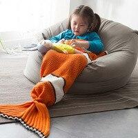 1.2kg Thicken and keep warm Knitted sofa blanket Handmade Crochet / Blanket Mermaid Blanket queen princess gift Bed Wrap Super