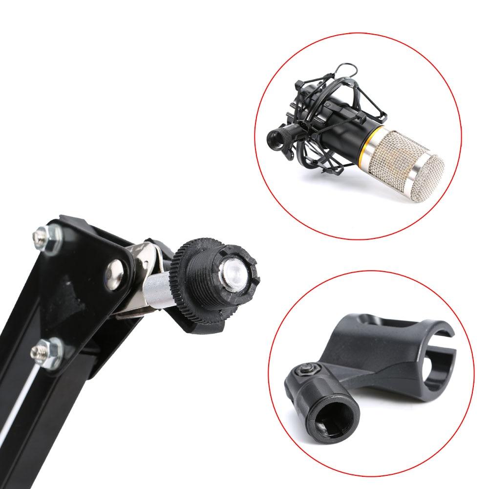 Micro à condensateur support de bras de ciseaux filaire support de choc en métal filtre Pop enregistrement sonore pour bavarder chanter WIF66