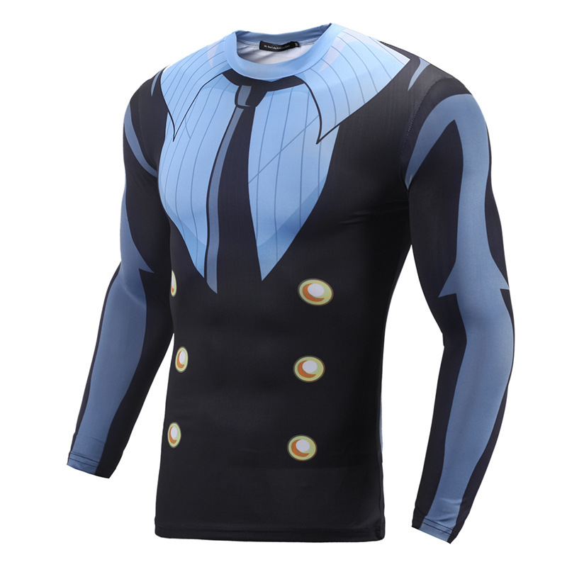 male Shirt homme brand Men Anime Bodybuilding Long Sleeve 3D printed t-shirts T Shirt fashion tshirts funny t-shirt slim fit