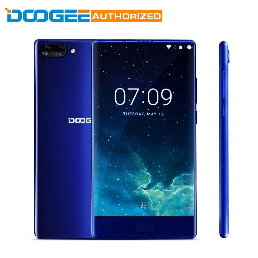 Melhor MIX de DOOGEE 5.5 Android 7.0 do Smartphone 6 GB + 64 GB Helio P25 Octa Core 2.5 GHz Metal Frente do corpo Celular Digital