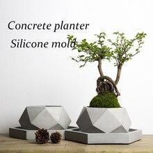 Большой размеры 40*18,2 см многоугольник ваза бетон горшок для растений ручной работы ремесло украшения дома Геометрия цемента горшок формы