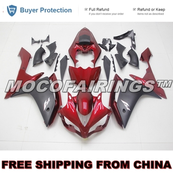 YZF R1 2007 2008 ABS Fairing Kits For Yamaha YZF-R1 07 08 Injection Plastic Mold RED AND MATTE BLACK
