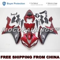 YZF R1 2007 2008 ABS Fairing Kits For Yamaha YZF R1 07 08 Injection Plastic Mold RED AND MATTE BLACK
