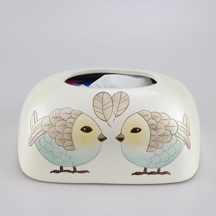 Скандинавская креативная ручная роспись коробка из керамической ткани персонализированное украшение для дома журнальный столик гостиная столовая хранение салфеток - Цвет: G