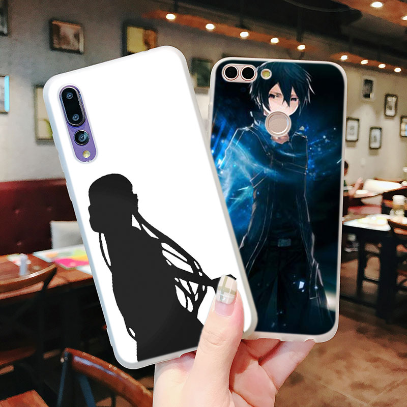 Silicone Case sword art online asuna krito for Huawei P Smart 2019 Plus P30 P20 P10 P9 P8 Lite Mate 20 10 Pro Lite Nova 3i Cover in Fitted Cases from Cellphones Telecommunications