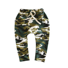 2016 spring hot sale camouflage harem pants kids fashion cotton boy girl pants baby harem pants 2-8 year children pants