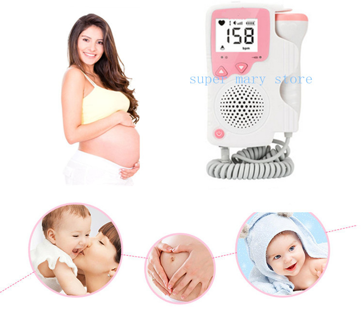 Baby Care Home use Fetal Doppler Fetal Portable Heartbeat Detector for pregnant women LCD display