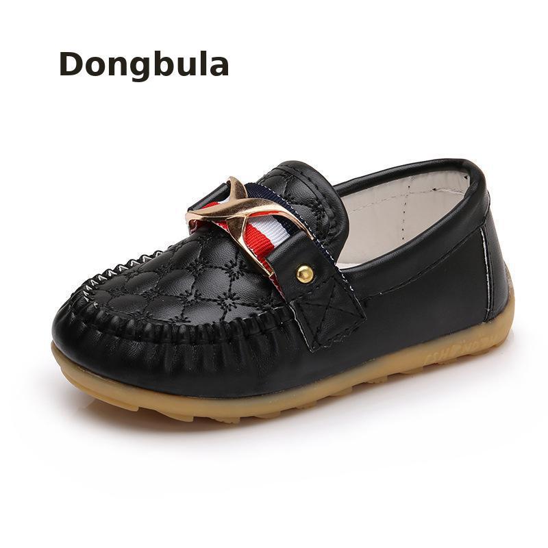 Children Loafers Flat Shoes Sneakers For kids Baby Soft Pu Leather Boys Casual Shoes Toddler Girls Soft Bottom Shoes Breathable