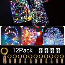 12 шт. 20 светодиодный S бутылка гирлянды с лампочками красочные устойчивый светодиодный гирлянда в бутылке для вечерние Декор светодиодные световые струны и 4jj03