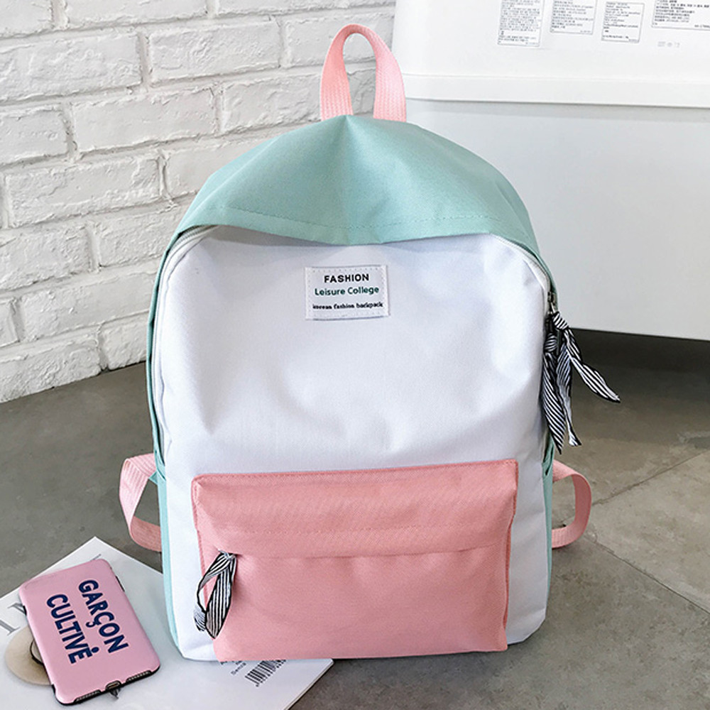 Fashion Backpack Knapsack Travel-Bags Classic Leisure Girls Korean Casual Women Ladies