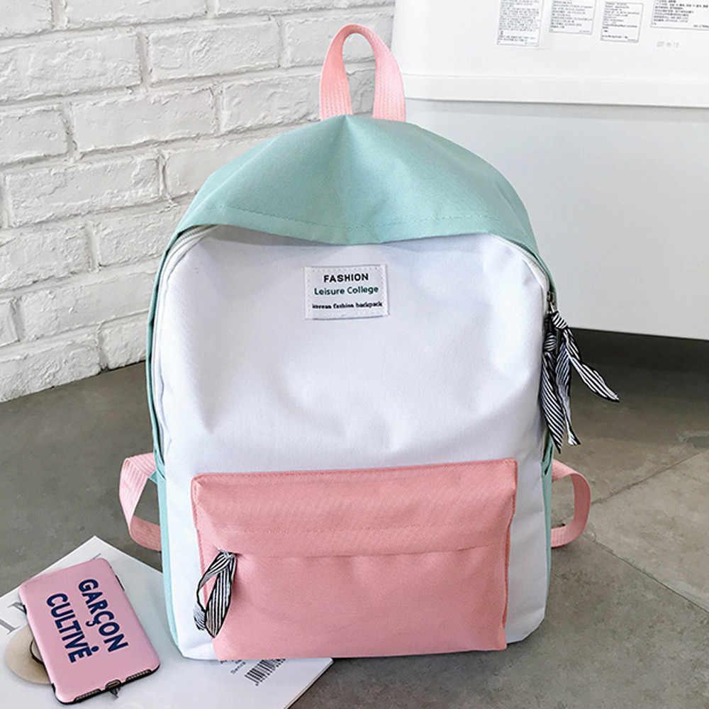 74930c7a35be Fashion Backpack Women Leisure Back Pack Korean Ladies Knapsack Casual  Travel Bags Girls Classic Bagpack mochila feminina *