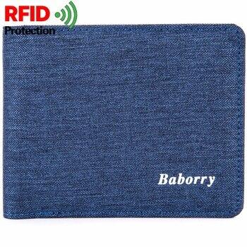 ec92aa851 RFID Theft Protect Coin Bag Zipper Men billeteras delgadas para hombre  billetera para hombre monederos de dinero para Hombre Nuevo diseño Top Slim  billetera ...