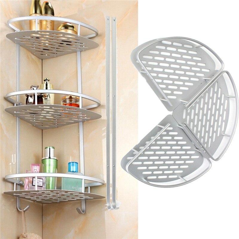 3 Layer Space Aluminum Triangular Shower Caddy Shelf Bathroom Corner Rack  Storage Basket Hanger Bathroom Shelves. Online Get Cheap Corner Shower Caddy  Aliexpress com   Alibaba Group