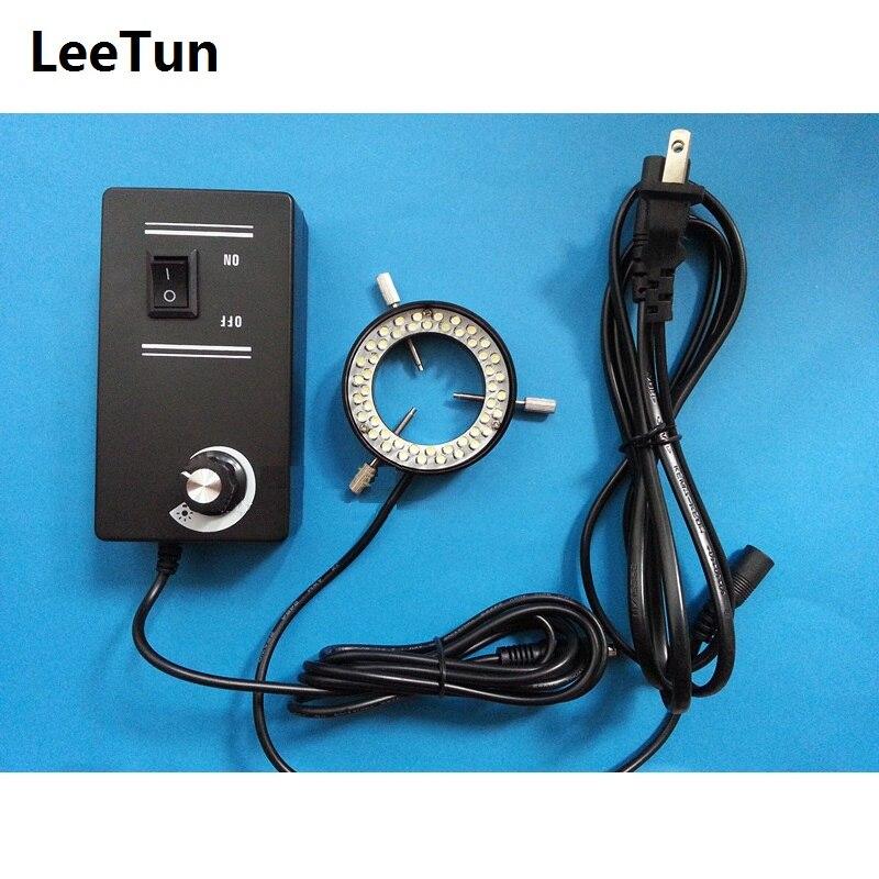 купить Inner Diameter 38mm/40mm Ring Vision Light Source 48 LED Adjustable CCD Illumination for Stereo Microscope Industrial Camera недорого