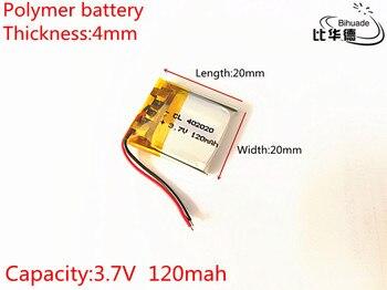 3,7 V, 120 mAH, 402020 PLIB; batería de polímero de iones de litio/iones de litio para GPS, mp3, mp4, mp5, dvd, bluetooth, modelo de juguete bluetooth móvil
