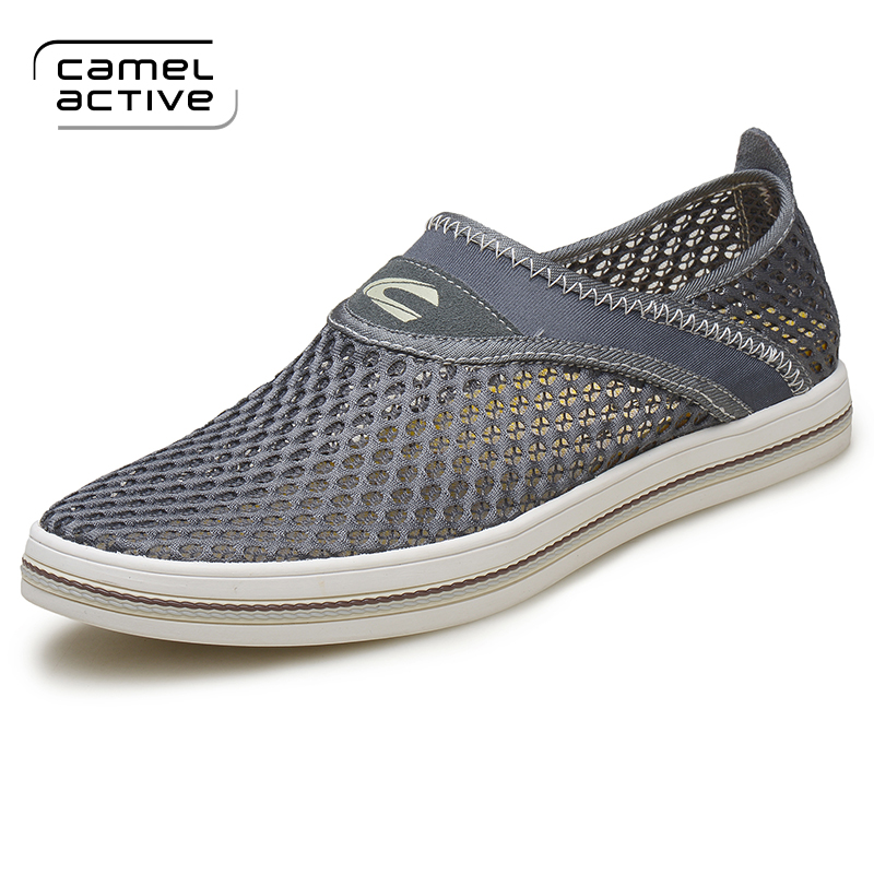 Camel Active New Breathable Mesh Summer Men Casual Shoes Slip On Male Fashion Footwear Slipon Walking Unisex Couples Shoes Mens womens lightweight walking shoes casual breathable mesh fashion outdoor shoes slip on flat footwear new arrival 1yd926