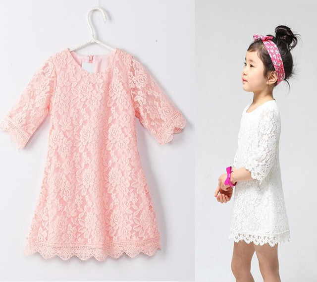 wit roze jurk