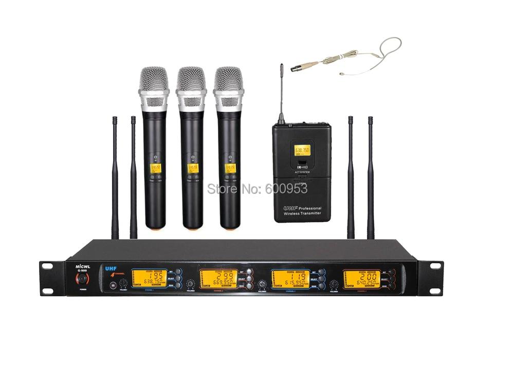 MiCWL Audio UHF système de Microphone micro karaoké sans fil 3 tenu dans la main 1 couleur de peau mini omnidirectionnel un oreille crochet casque