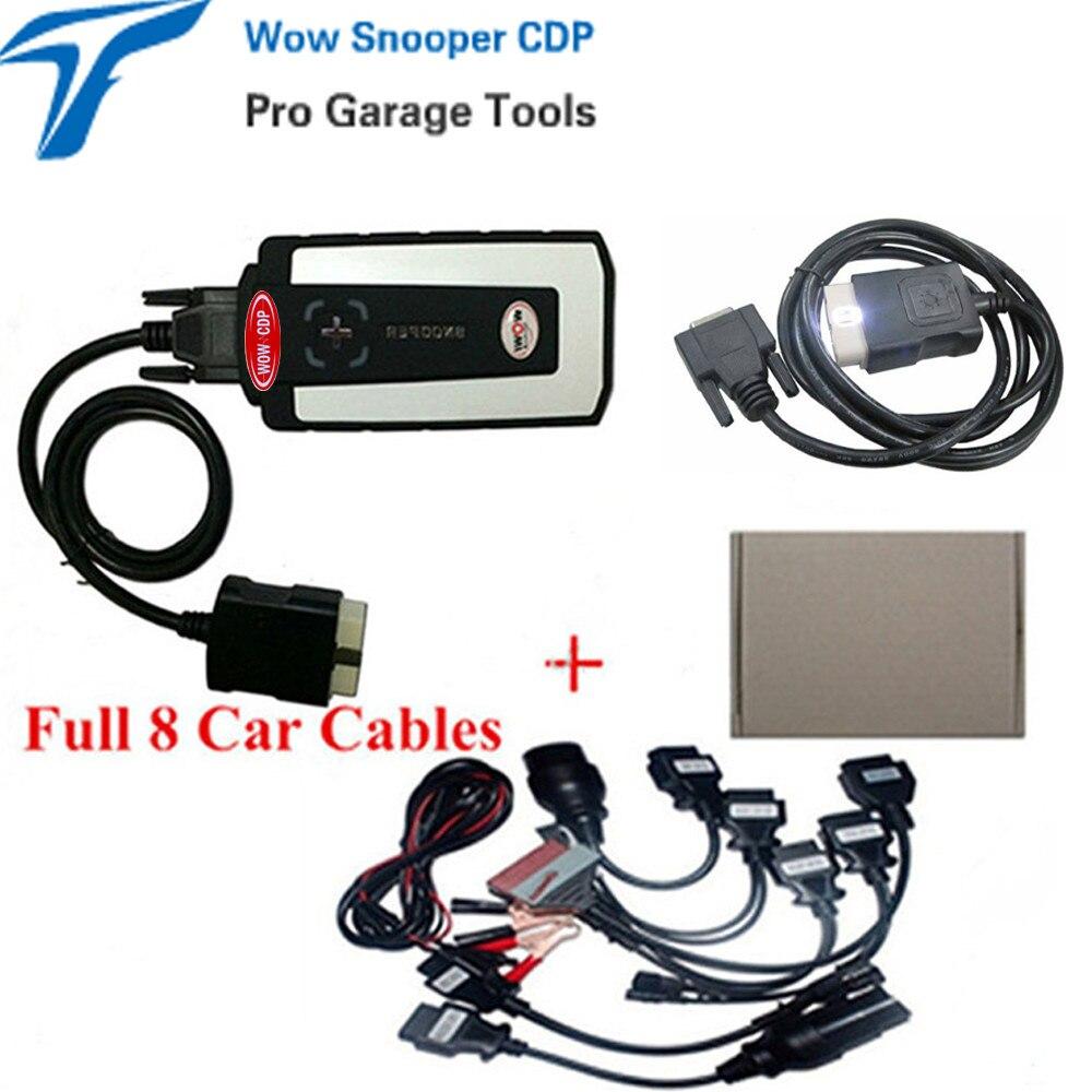 Цена за 2017 Топ Wow Snooper cdp Bluetooth Car Грузовик Диагностический Инструмент Программное Обеспечение V5.008 R2 С Серийник плюс автомобиля детектор obd2 автомобильных кабелей