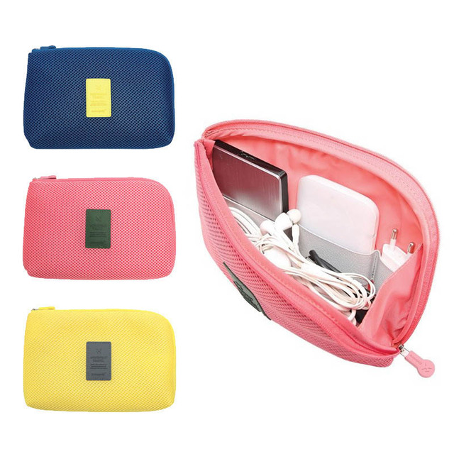 fb3c25a9c753 Portable Storage Bag Cable Organizer Digital Gadget Devices USB Earphone  Pen Travel Kit Case Women Messenger