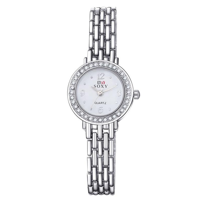 Mode Klocka Kvinnor Silver Klocka Kvinnor Armband Armbandsur - Damklockor - Foto 2