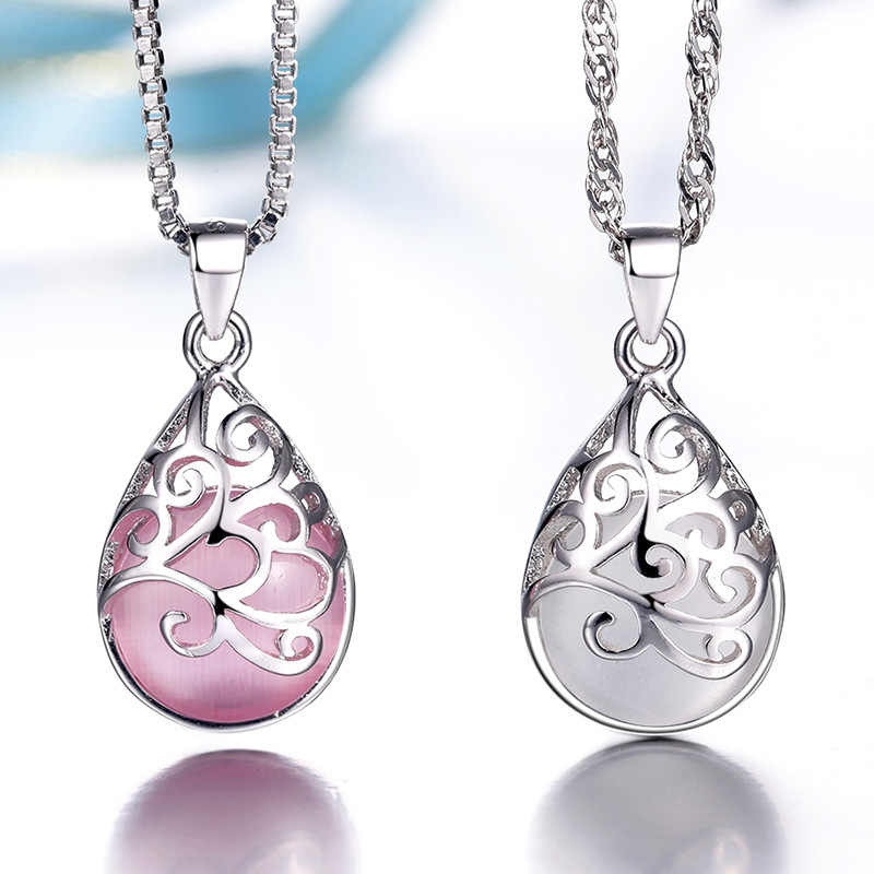 XIYANIKE 925 Sterling Silver Moonlight Cat's Eye Fashion Pendants Necklaces & Pendants For Women Fine Jewelry Collares VNS8168
