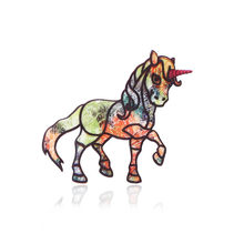 Horse Brooch For Girls Children Kids Pin Jewelry Cartoon Animal Horse Brooch Pin Collar Pins Corsage Decoration Party(China)