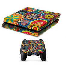 Vinyl Game Protective Skin Sticker For Playstation 4 Decal Cover Sticker For PS4 Gaming Console +2 Console Colorful Painted
