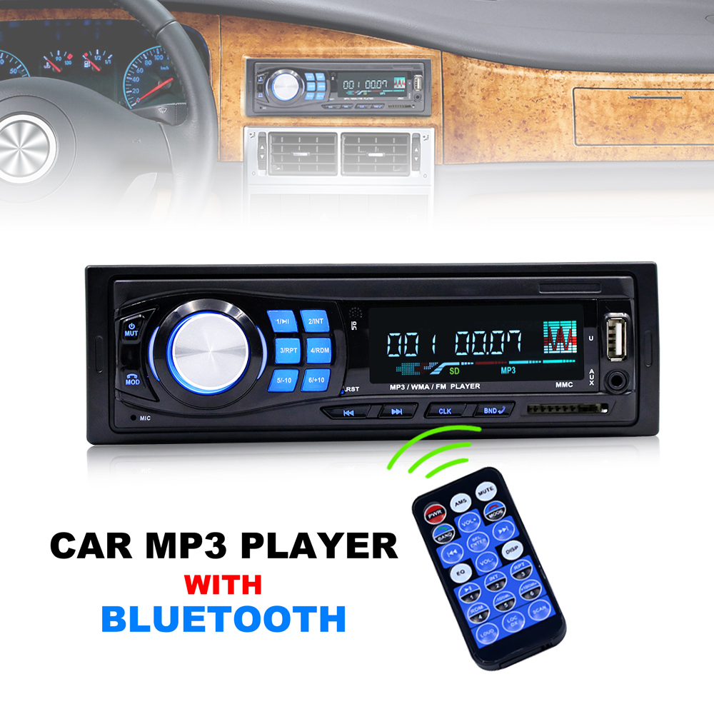 12V / 24V Bluetooth Car Radio MP3 Player Vehicle Stereo Audio support FM USB SD AUX In with Remote Control все цены