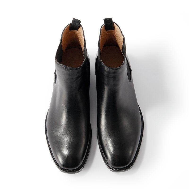 8fc3757d0 Beautoday Ботинки Челси Для женщин Топ Бренд натуральной телячьей кожи  квадратный носок эластичные ботильоны полусапожки модная обувь ручной  работы 03025 ...