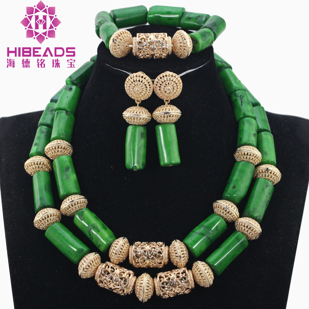 Coral Beads Jewelry Set Splendid Green Nigerian Wedding Dubai Gold African Bridal Jewelry Sets for Women Free ShippingABH428Coral Beads Jewelry Set Splendid Green Nigerian Wedding Dubai Gold African Bridal Jewelry Sets for Women Free ShippingABH428