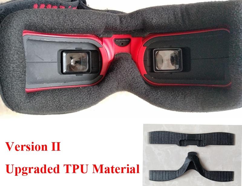 New Upgraded TPU Material Faceplate Sponge Foam Pad For FPV Goggles HDO HD2 HD3 V3 FatShark Light-leaking Preventing Comfortable
