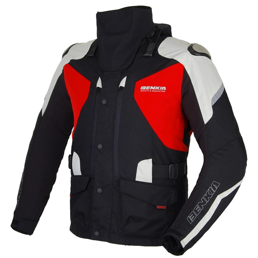 BENKIA Moto Giacca Invernale Caldo Fodera Giacca Moto Da Corsa Moto Motocross Equipaggiamento Protettivo Con Fodera Staccabile