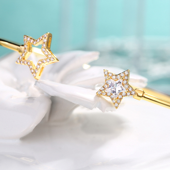 ALLNOEL , 2019, твердый, 925 пробы, серебряный , роскошный браслет для женщин, 14 K , золото , регулируемый, циркон , бриллиант, драгоценный камень, ювели...