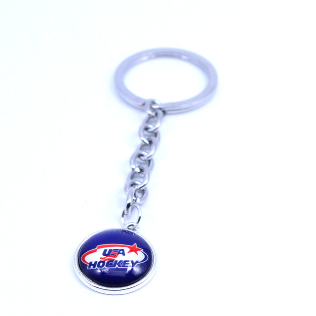 Ice Hockey Keychain NHL USA HOCKEY Charm Key Chain Car Keyring for Women  Men Party Birthday Keyrings Gifts New 2018 b2d4235e8