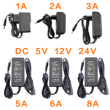 Power Adapter DC 5V 12V 24V 1A 2A 3A 5A 6A 8A DC 5 12 24 V Volt Lighting Transformers LED Driver Power Adapter Supply Strip Lamp
