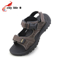 PU Leather Men Sandals 2015 Summer New Breathable Korean Casual Vietnam Shoes Gladiator Slippers Wedged Sandals
