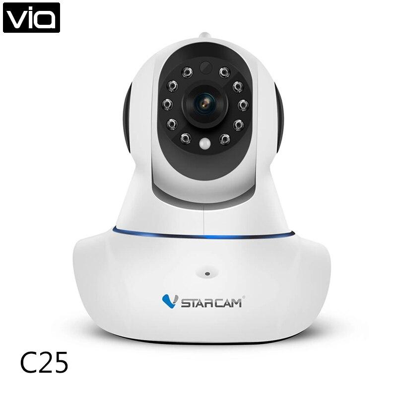 ФОТО VStarcam C25 Free Shipping Wireless IP Camera 720P HD Plug&Play Indoor Pan & Tilt Security Surveillance Dome Camera