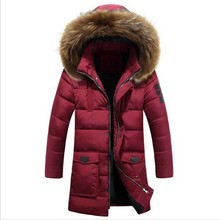 Winter Jacket Men White Duck Down Long Jackets Keep Warm Coat Casual Men's thick Down Overcoat Outdooring parka homme
