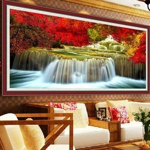 Image 4 - QIANZEHUI, Bộ Kim Chỉ, DIY Phong Cảnh Chéo Nữ Thời Trang, bộ Cho Thêu Bộ Nước Làm Cho Tiền Thêu Full Túi Đeo Chéo Thêu