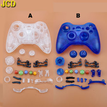 JCD For Microsoft Xbox 360 Wireless Controller Hard Case Gamepad Protective Shell Cover W/ Buttons Kit  Analog Stick Bumpers