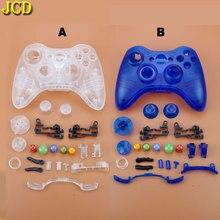 JCD マイクロソフト Xbox 360 ワイヤレスコントローラハードケースゲームパッド保護シェル W/ボタンキットアナログスティックバンパー