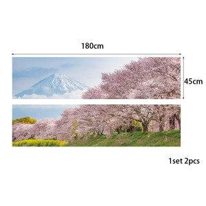 Image 3 - יפן הר דובדבן Bossoms עץ פרחוני נוף קיר מדבקת חדר שינה מדבקות אמנות דקור עצמי דבק עמיד למים בית קיר תפאורה