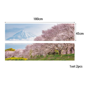 Image 3 - Japan Mountain Cherry Bossoms Tree Floral Scenery Wall Sticker Bedroom Decal Art Decor Self Adhesive Waterproof Home Mural Decor