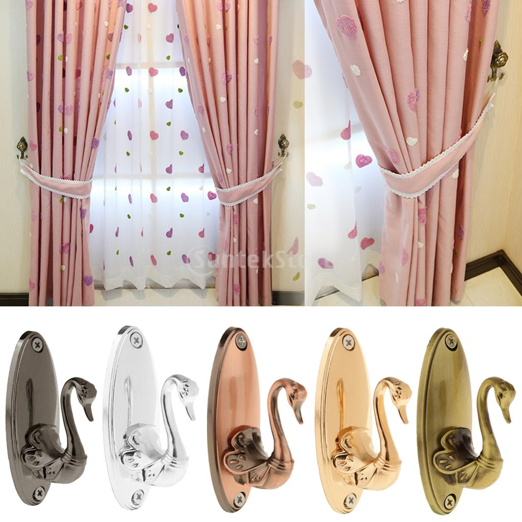 2 pcs vintage swan antique drapery curtain holdbacks tieback hooks 2 pcs vintage swan antique drapery curtain holdbacks tieback hooks in curtain decorative accessories from home garden on aliexpress alibaba group amipublicfo Images