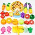 24 Unids/set Plástico de Frutas Vegetales de Cocina De Corte Juguetes Juguete de Desarrollo y Educación Tempranos para Niños Niños Bebé